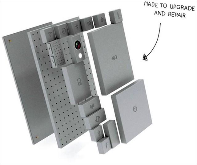 LEGOブロックみたいに自由に組み立てることができるスマホ「PHONEBLOKS」