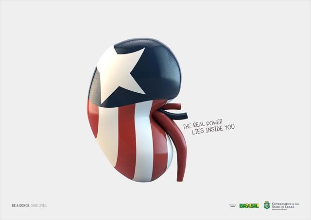 「本当の力はあなたの中」アメコミヒーローに模した臓器でドナーを募る広告