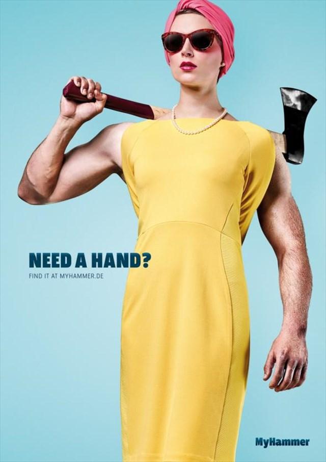 「いい腕持ってるぜ?」海外の職人探しのサイト「MyHammer」の広告が秀逸