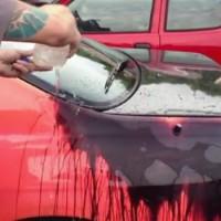 【動画】雨の日はビックリするかも!温度で色が変わる塗装の車