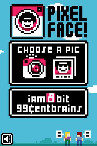写真を8bitドット絵っぽく加工できるアプリ「8bitPixelFace by iam8bit」
