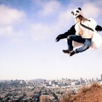狼コート、白熊コートに続くパンダ風コート「Panda Coat (パンダコート)」