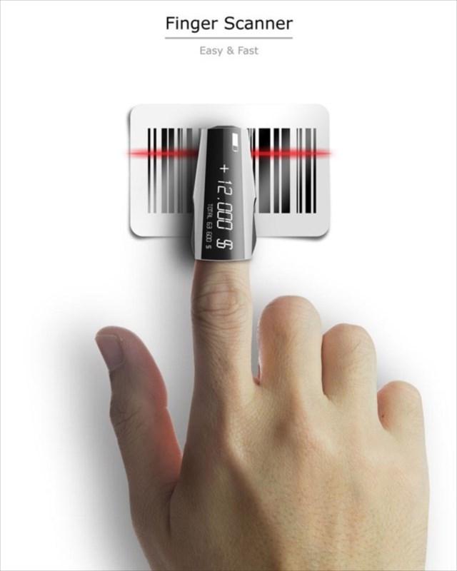 指でバーコードを読み取ることができる「Finger Scanner 」という発想