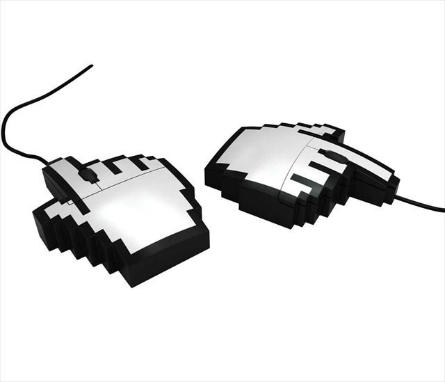 ドット絵好きにはたまらない!手のポインター型マウス「PIXEL MOUSE」