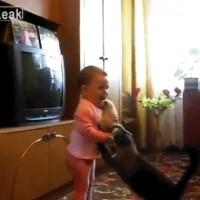 【動画】人間の子供 vs 母猫「子猫争奪戦」が可愛いwww