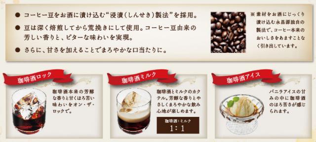 コーヒーのお酒「珈琲酒」が美味しいらしい、まぁ僕は下戸なんで飲めませんけどw