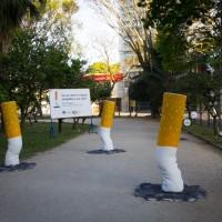ブラジルでタバコの有害性を訴える為に公園に設置された巨大な吸い殻