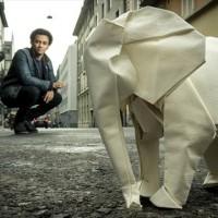 等身大の象の折紙を折りたい折り紙アーティスト「Sipho Mabona」さんがクラウドファンディングしているよ