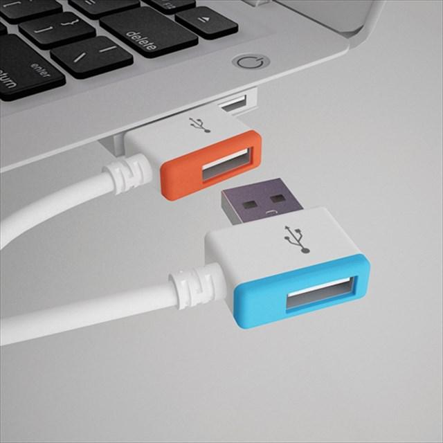 挿しても挿してもUSBポートが埋まらない無限USBケーブル「Infinite USB」