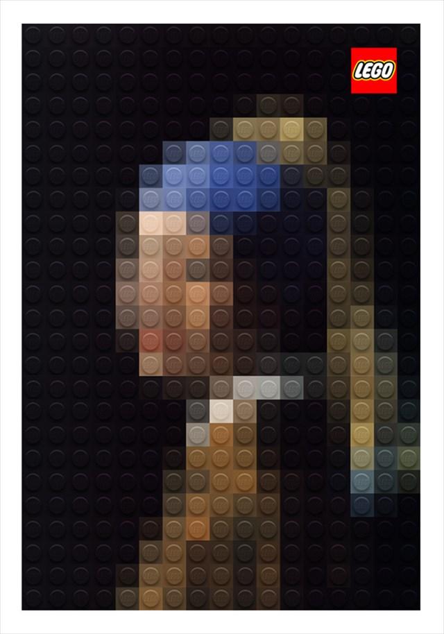 モザイクなんだけど元ネタが分かっちゃう!LEGOでピクセル化された世界の名画が凄い