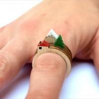 指にジオラマを作ることができる指輪