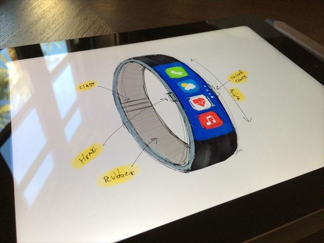 【動画あり】「Nike+ FuelBand」みたいな見た目のiWatchのコンセプト