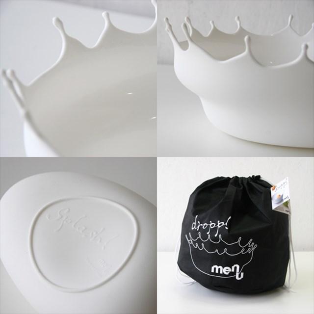 ミルクを一滴垂らした時にできる王冠のようなデザインのサラダボウル「Dropp」