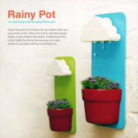 これは可愛い!雨雲から落ちる雨水を再現した花ポット「Rainy Pot」