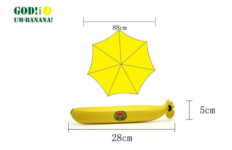 折りたたむとバナナになる可愛い折りたたみ傘「Um-Banana」