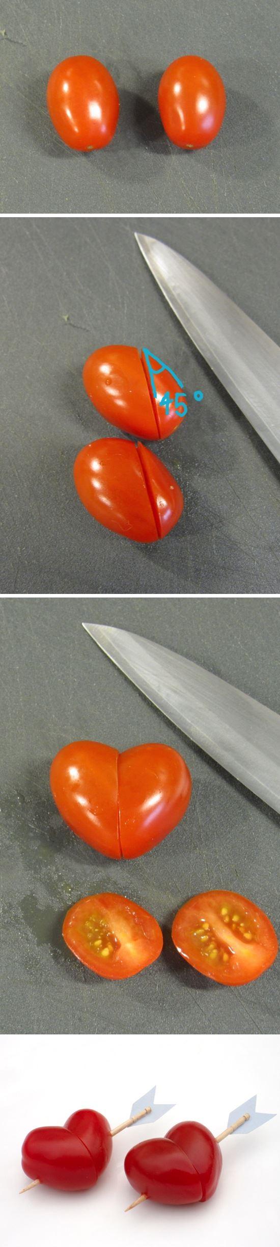 【キャラ弁の小技】「矢で射抜かれたハート型のトマト」を簡単に作る方法