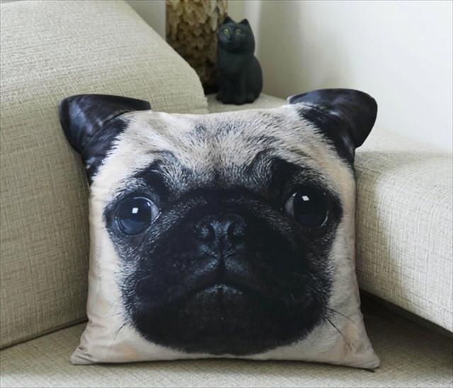 なんだこれ欲しい!www猫の顔型のクッションが可愛すぎる、犬やアライグマもあるよ