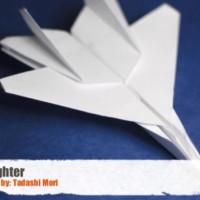 【動画】これはやってみたい!F15イーグル戦闘機型の紙飛行機を折る方法