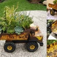【DIY】遊ばなくなった玩具や靴をプランターにリメイクするアイデア
