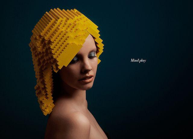 どんな髪型でも自由自在!?LEGO製のウィッグを使ったアート by Elroy Klee