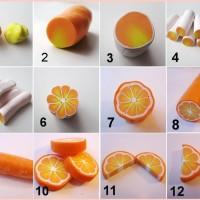 【DIY】粘土でリアルなオレンジの輪切りを作る方法(全12ステップ)