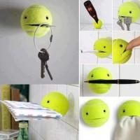 テニスボールをパックマンみたいなホルダーにリメイクする方法