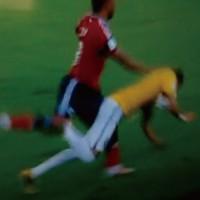 【動画】ネイマールがコロンビア戦で脊椎骨折の原因となったファールの瞬間