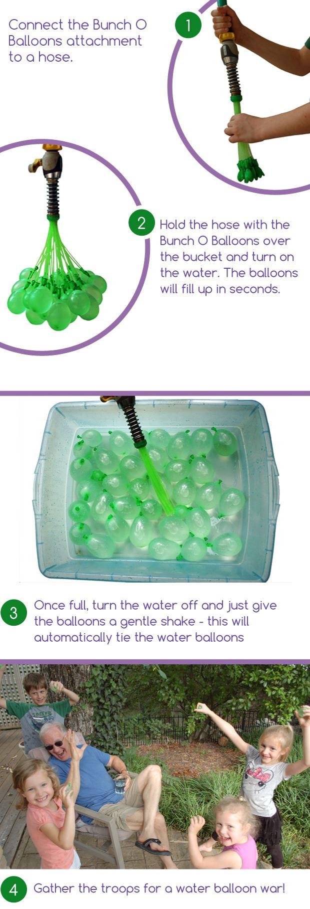 これは楽しい!1分間に100個作れる水風船「Bunch O Balloons」