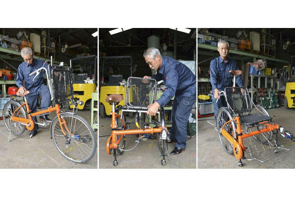 災害時に車いすに変形できる自転車「Q―jo」が素晴らしい!