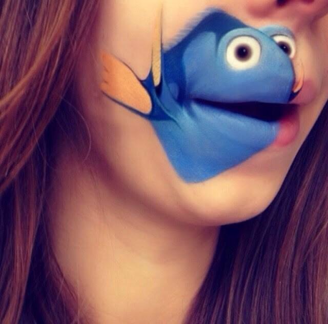 唇がアニメのキャラに大変身!海外のメイクアップアーティストの凄い技術が話題に