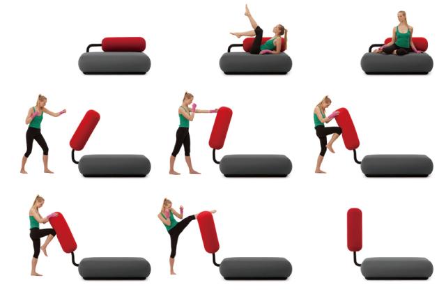 イラっとしたらボコボコにできるサンドバッグ付きソファー「Champ Boxing Couch」