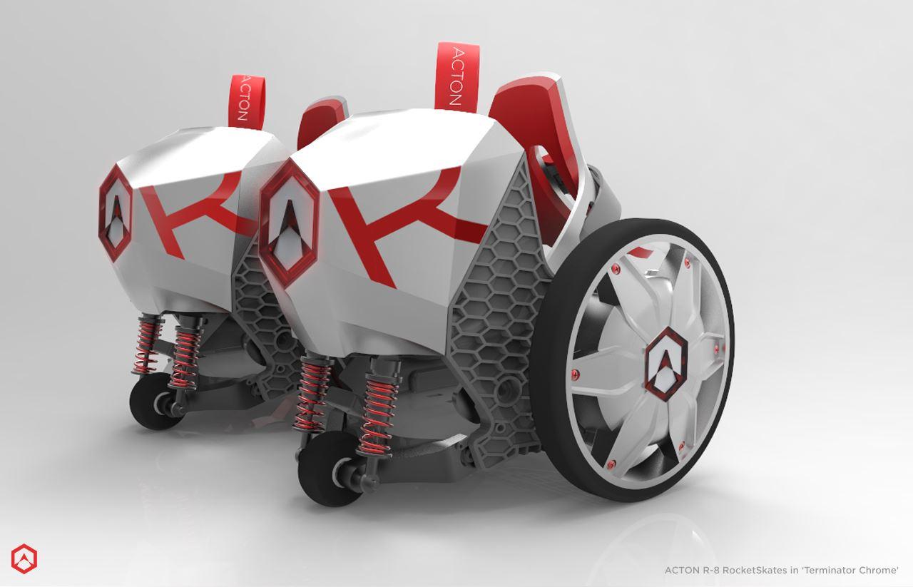 近未来感が半端ない電動ローラースケート「RocketSkates」が話題