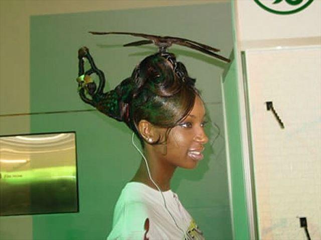 【小ネタ】ヘリコプターを忠実に再現したヘアースタイルが凄すぎる!