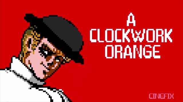 【動画】もし名作「時計じかけのオレンジ」がファミコンソフトになったら・・・