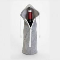 ワインに服!?ワインボトル用のパーカー「Zip it Up Wine Bottle Hoodie」