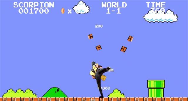 スーパーマリオとモータルコンバットが融合した「Super Mario Kombat」がヤバいwww