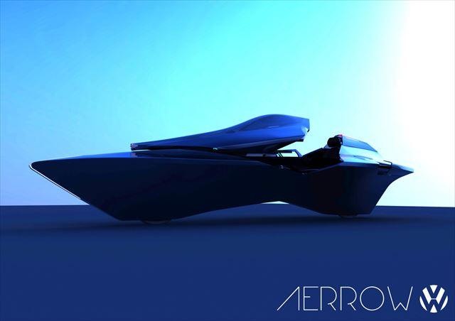 近未来感が半端ない美しすぎるコンセプト車「Volkswagen AERROW」が凄い
