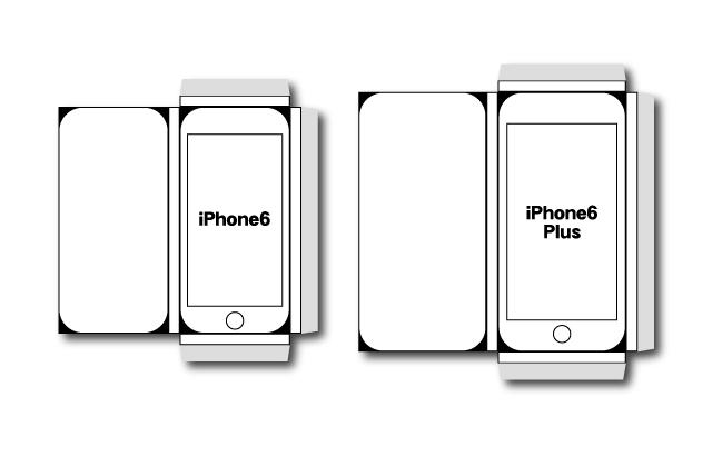 iPhone6Plusの大きさが体感できる立体的に組み立て可能なペーパークラフトを作ったよ