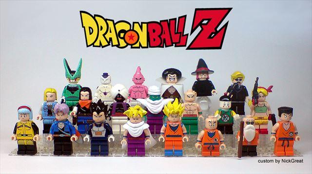 プロLEGOカスタマイザーによって作られたドラゴンボールZのオリジナルLEGOが凄い!