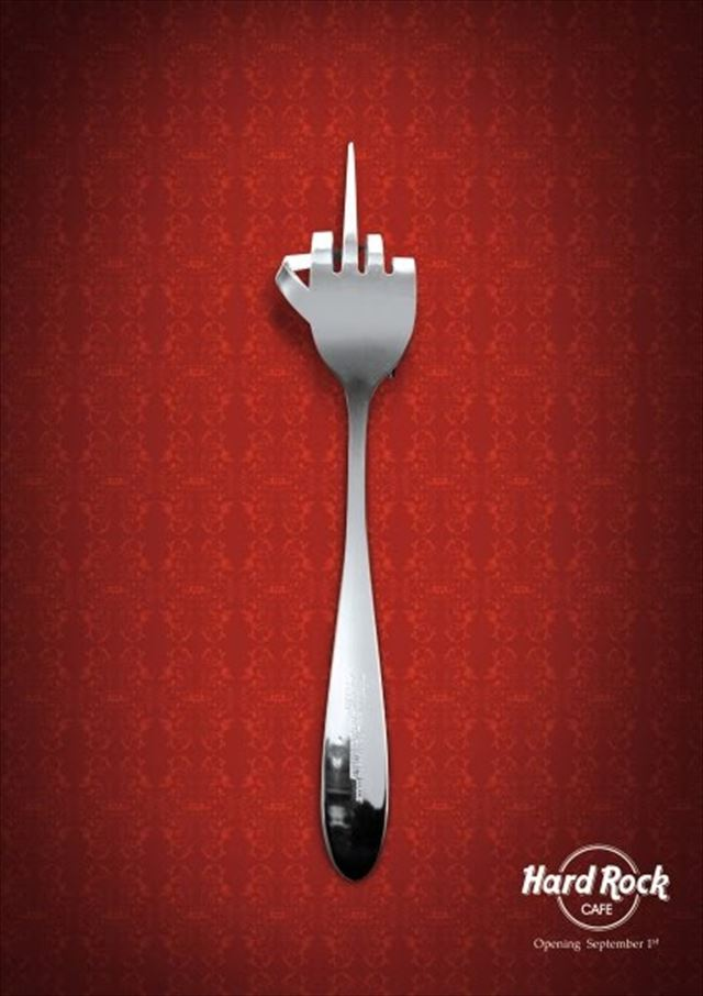 これはROCKを感じざるを得ない!ハードロックカフェのハイセンスな広告