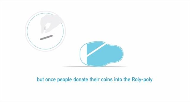 募金をする度に子供達が立ち上がっていくユニセフの募金箱の発想が素晴らしい
