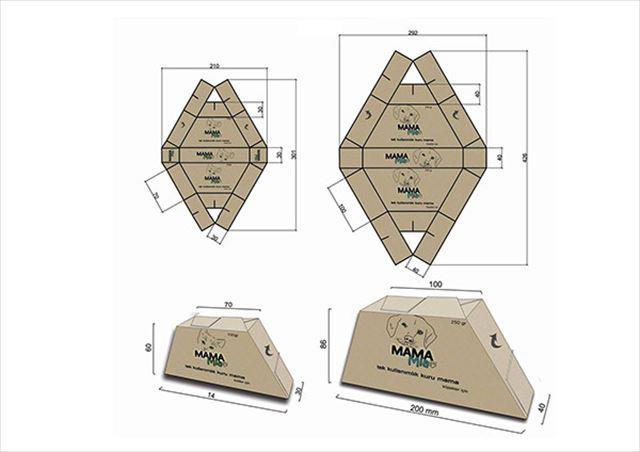 これは便利そう!広げるとそのままお皿になるペットフードのパッケージデザイン