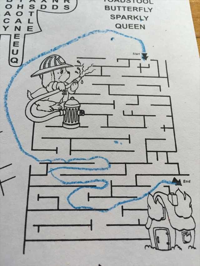 【小ネタ】「天才だな」と思った子供の迷路の解き方
