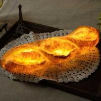パン+ランプシェード=パン型の可愛い照明「パンプシェード」