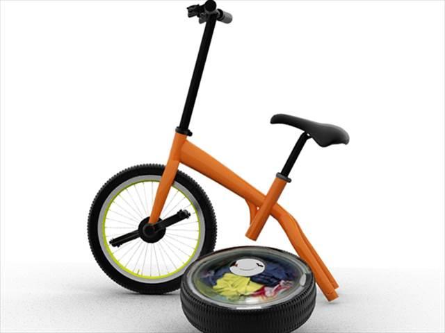 一周回って新しい!?ペダルを漕ぐと洗濯機が回る自転車「BiWa」
