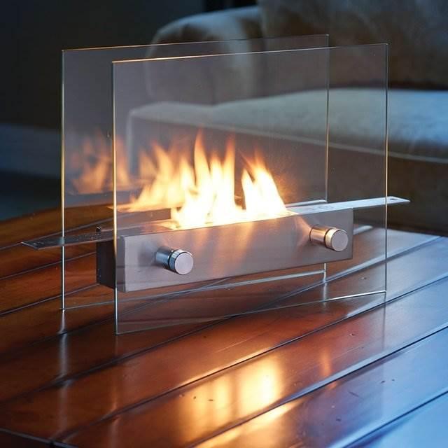 【欲しすぎる】机の上で楽しめるステンレス製の卓上暖炉「Tabletop Fireplace」