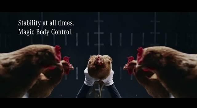 ベンツのマジックボディコントロールのCMに対してジャガーが作ったパロディCMが痛快すぎる!