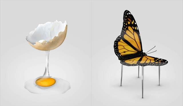 蝶々が椅子に生まれ変わった-海外のデザイナーが考えた斬新すぎるデザインの椅子が話題に