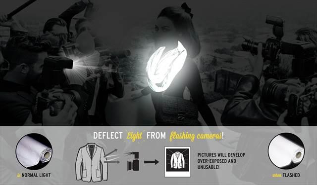 この発想は無かった!パパラッチ無効化する素材で出来た服のコンセプトが斬新!