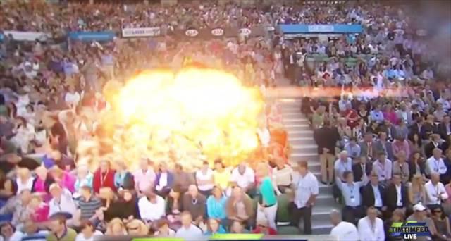 サーブは砲撃!?戦車とジョコビッチがテニスで対戦するありえない動画が凄いwww